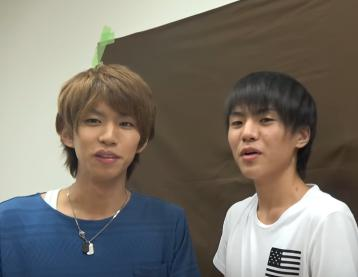 はじめしゃちょーと桐崎栄二、身長比較
