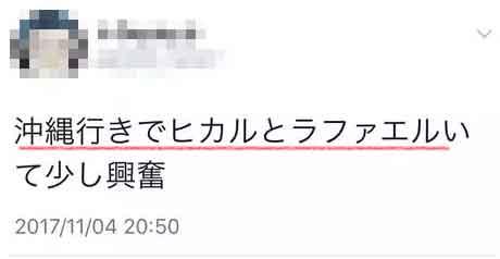 ヒカル ラファエル目撃情報11月 2