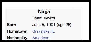 Ninja 年齢